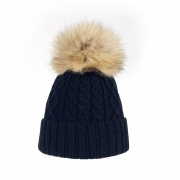 Steffner Mia Womens Ski Hat in Navy