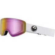 Dragon PXV White Ski Goggle with LumaLens Pink Ion and Dark Smoke
