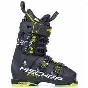 Fischer RC Pro 130 Vacuum Full Fit Ski Boot in Black and Yellow