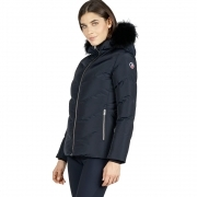 Fusalp Davai Down Fur Womens Ski Jacket in Navy