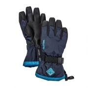 Hestra Czone Gauntlet Jr Ski Glove in Navy and Blue