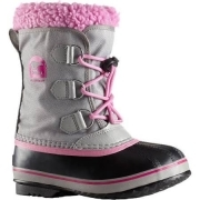 Sorel Yoot Pac Nylon Kids Snow Boot in Chrome Grey