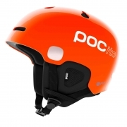 POC POCito Auric Cut SPIN Kids Ski Helmet in Fluorescent Orange