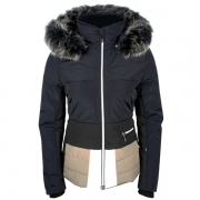 Poivre Blanc Amanda Womens Ski Jacket in Gothic Blue Multi