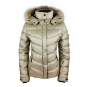 Bogner Sally 3 D Womens Ski Jacket in Gold with Luxe Trim