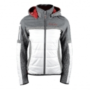 Almgwand Nordhorn Jacket Womens Ski Jacket in White and Grey