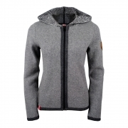 Almgwand Reitlehenalm Wool Womens Jacket in Grey