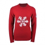 Almgwand Otscheralm Wool Womens Sweater in Red