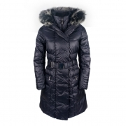 Poivre Blanc Ava Womens Winter Coat in Gothic Blue