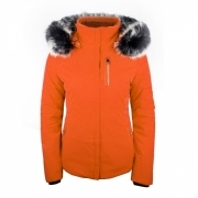 Poivre Blanc Stretch Womens Ski Jacket in Fiesta Orange