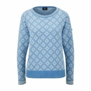 Bogner Almara Womens Knit Midlayer in Light Blue