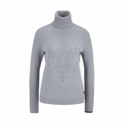 Bogner Gisa Womens Knit Midlayer in Light Grey