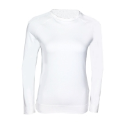 Poivre Blanc Roundneck Womens Baselayer Top in White