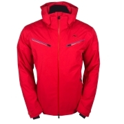 Kjus Formula Mens Ski Jacket in Scarlet