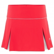 Poivre Blanc Womens Tennis Skort in Spritz Red And White
