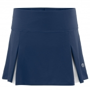 Poivre Blanc Womens Tennis Skort in Deep Blue Sea And White