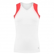 Poivre Blanc Womens Tennis Tank Top In White And Spritz Red