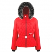Bethany Womens Jacket in Scarlet Red