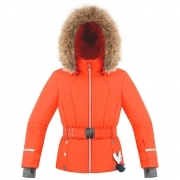 Betty Girls Jacket in Clementine Orange