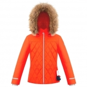 Bethany Girls Jacket in Clementine Orange