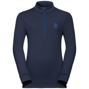 Odlo Warm Kid Longsleeve Zip Ski Thermals Top in Navy