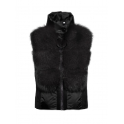 Adda Fur Womens Bodywarmer in Black