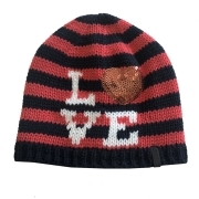 Barts I Love Beanie Kids Ski Hat in Navy