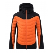 Sight Line Mens Jacket in Black and Kjus Orange