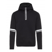 Logo Hood Tech Sweat Midlayer in Black