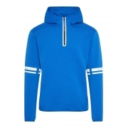 Logo Hood Tech Sweat Midlayer in Pop Blue