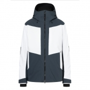 Hannes Mens Jacket in Grey and White