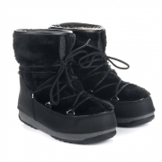 Monaco Low Fur Winter Boot in Black