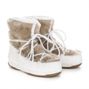 Monaco Low Fur Winter Boot in White