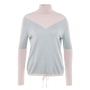 Xena Womens Knitted Midlayer in Grey and Rose