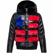 Drawi Down Womens Jacket in Multicolour