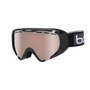 Explorer OTG Kids Ski Goggle in Shiny Black with Vermillon Gun