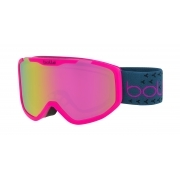 Rocket Plus Kids Ski Goggle in Matte Pink With Rose Gold