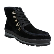 St Anton Womens Snow Boot in Black Suede