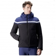 Alfonse Mens Jacket in Blue Black