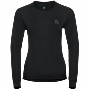 Odlo Active Warm L/S Crewneck Womens Baselayer  in Black