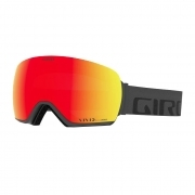 Article Mens Ski Goggle in Grey Wordmark with Vivd Ember Lens