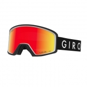 Blok Mens Ski Goggle in Black Core with Vivid Ember