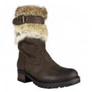 La Thuile Orlando Buckle Womens Winter Boot in Brown