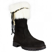 La Thuile Orlando Womens Winter Boot in Black and Off White