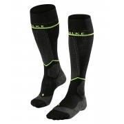 Falke SK Energizing Wool Mens Compression Ski Socks in Black