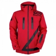 Triangle Jacket Mens Jacket in Racing Red