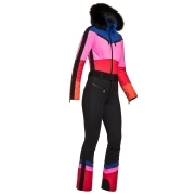 Goldbergh Pearl Ski Suit in Rainbow with Black Trim