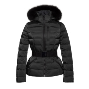 Goldbergh Soldis Ski Jacket Saga Fur Trim Black