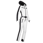 Goldbergh Empress Ski Suit Saga Fur Trim in White