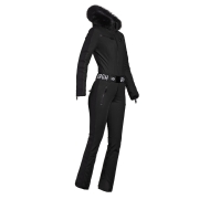 Goldbergh Empress Ski Suit Saga Fur Trim in Black